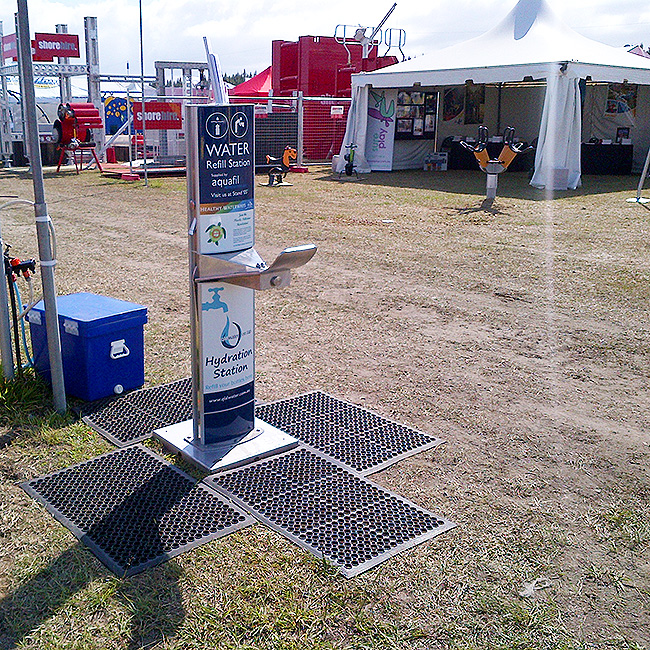 portable refill station and drinking fountain