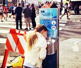 LA-marathon-aquafil-water-refill-station-and-drinking-fountain