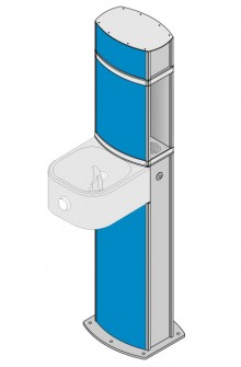 Water refill station and drinking fountain